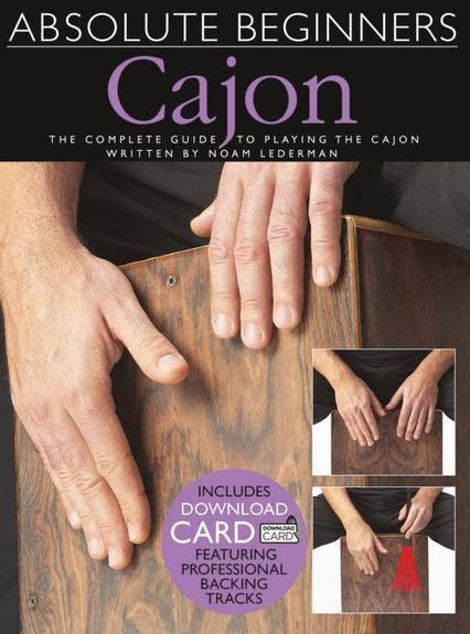 No brand ABSOLUTE BEGINNERS CAJON BOOK & DOWNLOAD CARD