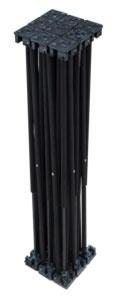 Alustage Spider Riser 1x1 60cm Black