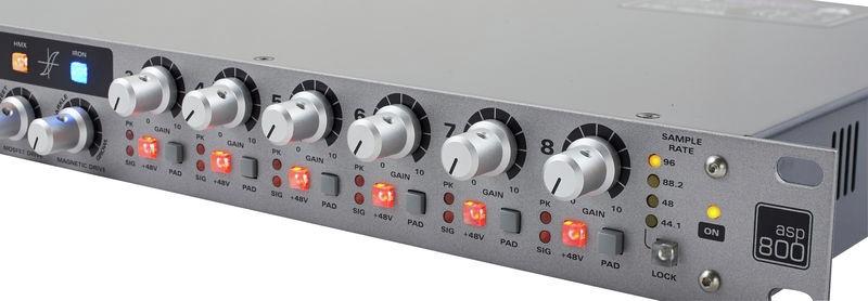 Preamplificator de microfon cu 8 canale Audient ASP800