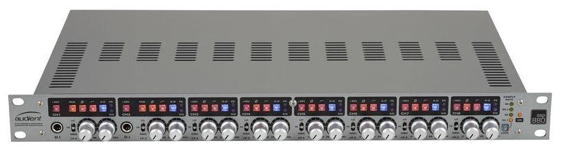 Preamplificator de microfon ?i ADC cu 8 canale Audient ASP880