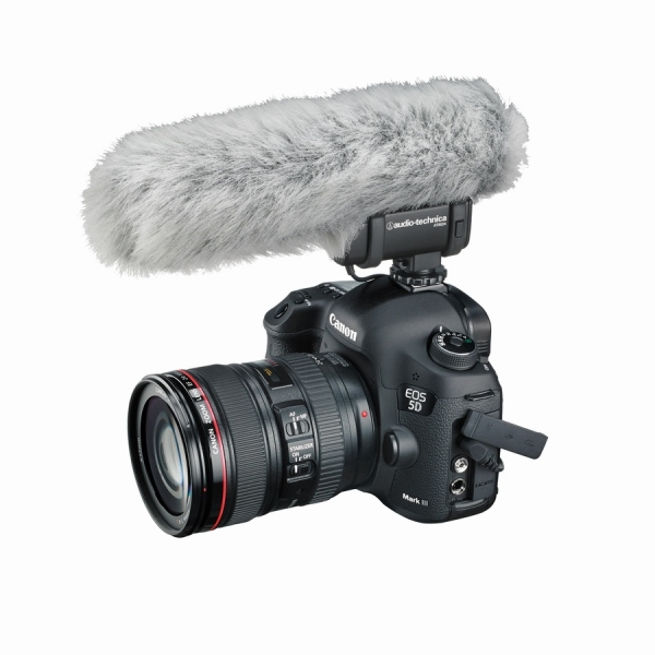 Microfon condenser de tip shotgun cu montare pe camera de filmat Audio-Technica AT8024