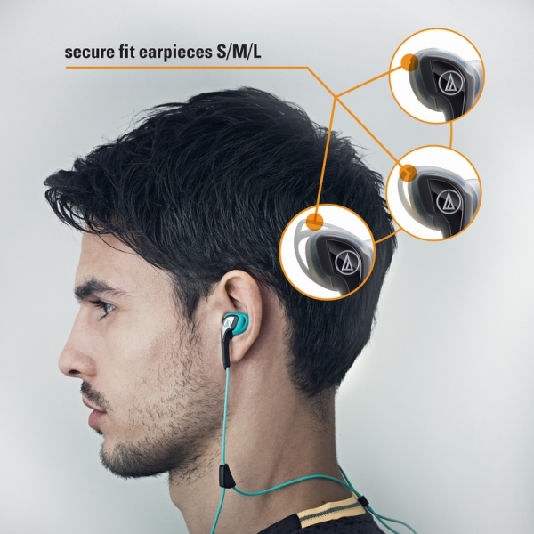 Casti in-ear Audio-Technica SPORT-2 RD