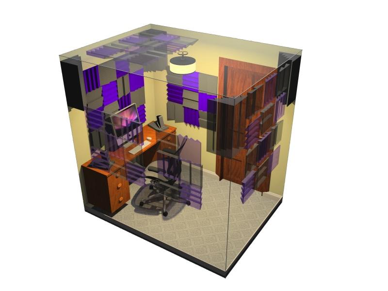 Auralex Roominators Alpha-DST Burgundy