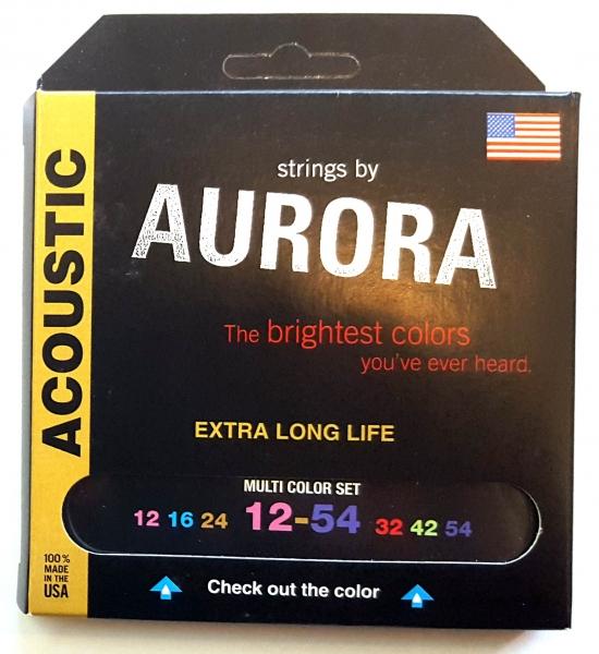 Set corzi chitara acustica Aurora Acoustic 12s MultiColored
