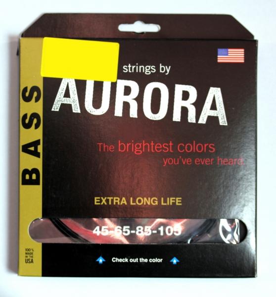 Set de corzi pentru chitara bass Aurora Bass 45-105 Red