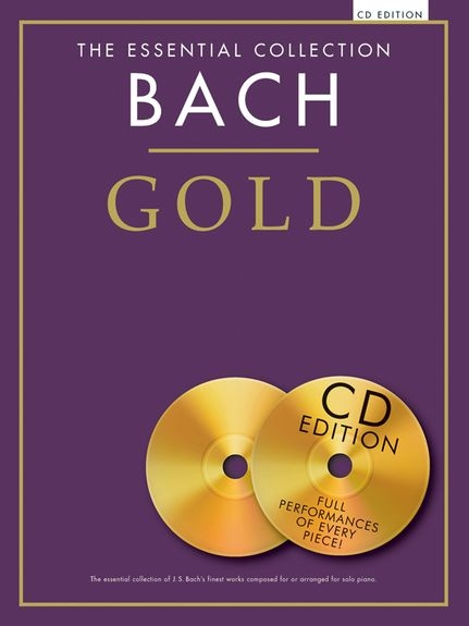 No brand BACH GOLD ESSENTIAL COLLECTION PIANO BOOK/2CD