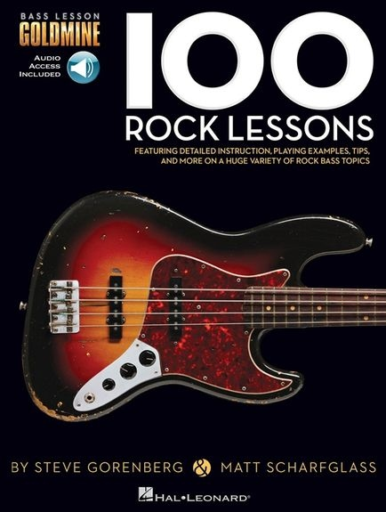 No brand BASS LESSON GOLDMINE 100 ROCK LESSONS BGTR TAB BK/AUDIO ONLINE