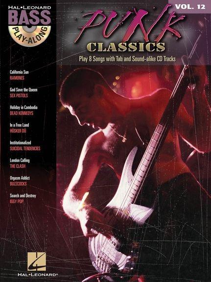 No brand BASS PLAY ALONG VOLUME 12 PUNK CLASSICS BASS GUITAR BOOK/CD