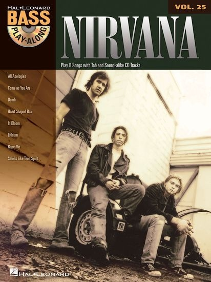 No brand BASS PLAY-ALONG VOLUME 25 NIRVANA BASS GUITAR BGTR BOOK/CD