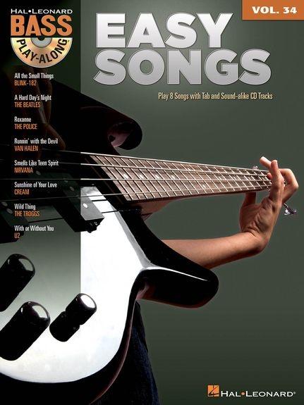 No brand BASS PLAY ALONG VOLUME 34 EASY SONGS BGTR BK/AUDIO ONLINE