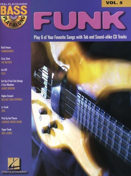 No brand BASS PLAY ALONG VOLUME 5 FUNK BASS GUITAR BK/CD