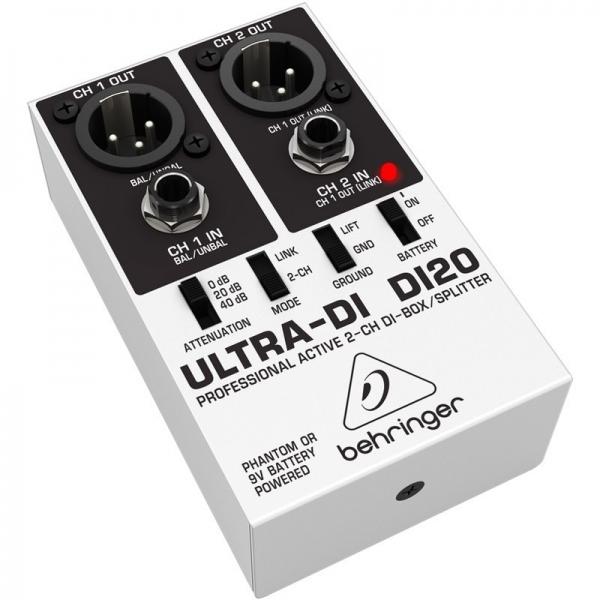 DI Box/Splitter cu 2 canale Behringer DI20