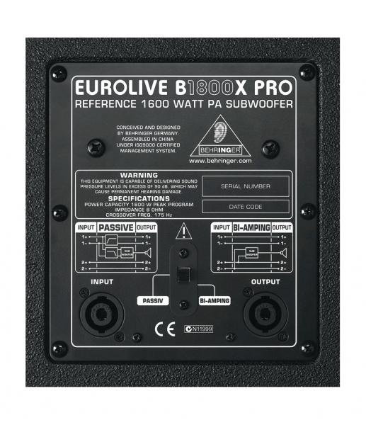 Behringer Eurolive B1800X PRO