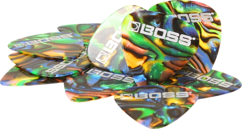 Set 12 pene de chitara Boss BPK-12-AT Abalone Thin