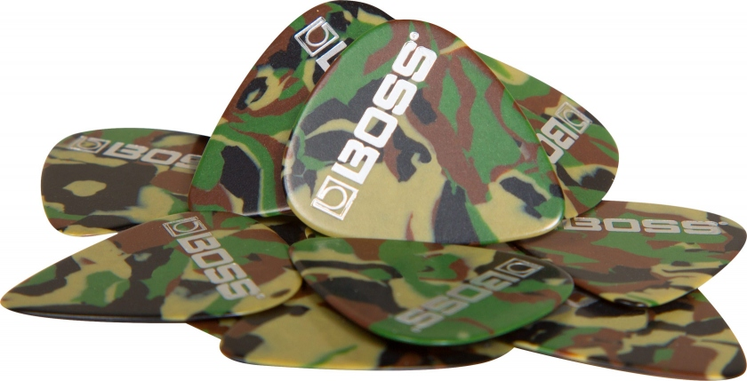 Set de 12 pene medium de chitara Boss BPK-12-CM Camo Medium