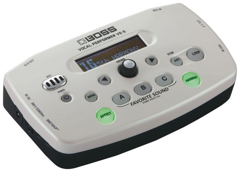 Procesor de efecte pentru voce Boss VE-5 WH Vocal Performer
