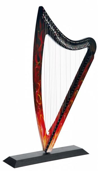 Harpa electrica Camac Harps DHC Blue Light 32 True Fire