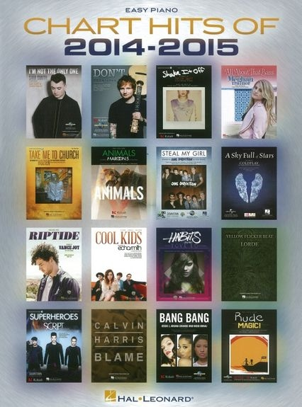 No brand CHART HITS OF 2014 2015 EASY PIANO SONGBOOK PF BK