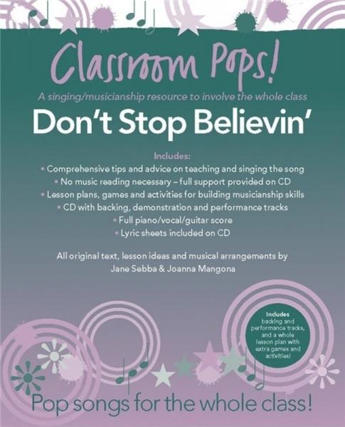 No brand Classroom Pops! Dont Stop Believin