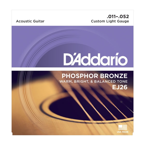 Daddario EJ26 Ph. Bronze Cst.Light 11-52