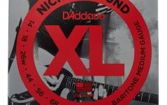 Set de corzi pentru chitara electrica bariton Daddario EXL157 Baritone Medium 14-68