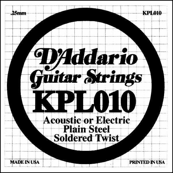 Coarda de chitara DAddario KPL010
