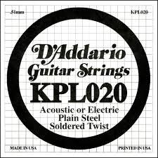 Coarda de chitara DAddario KPL020