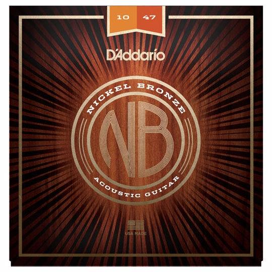 Set corzi chitara acustica Daddario NB1047 Nickel Bronze Extra Light 10-47