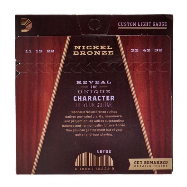 Set corzi chitara acustica Daddario NB1152 Nickel Bronze Custom Light 11-52
