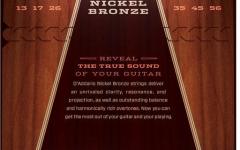 Set corzi  pentru chitara acustica Daddario NB1356 Nickel Bronze Medium