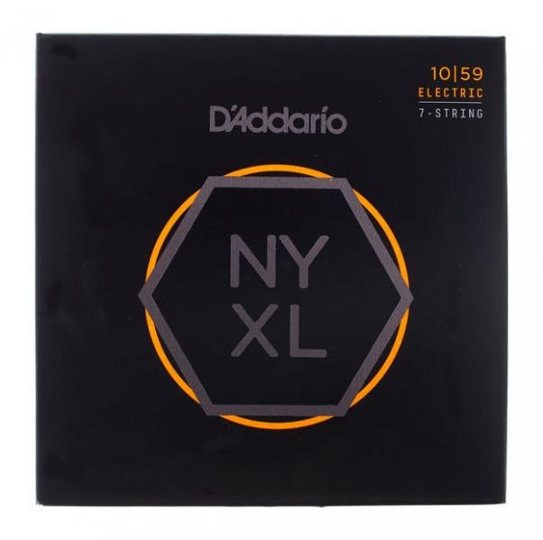 Set de corzi pentru chitara electrica cu 7 corzi Daddario NYXL1059 7 Strings