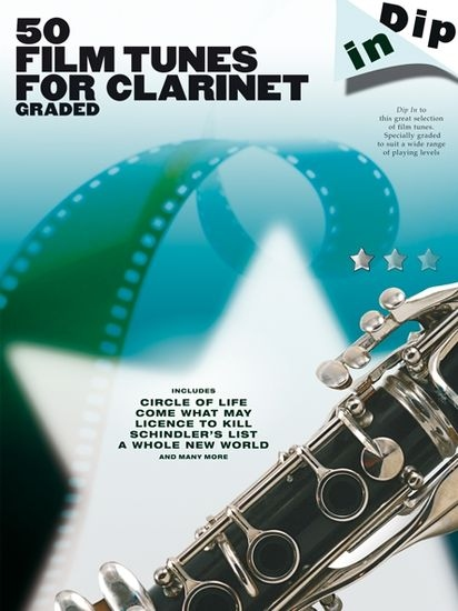 No brand Dip In: 50 Graded Film Tunes For Clarinet
