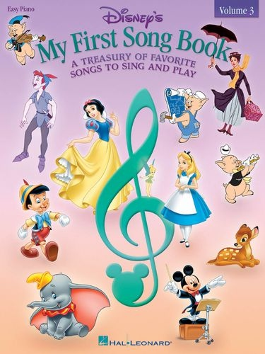 No brand DISNEY'S MY FIRST SONG BOOK VOLUME 3 EASY PIANO SONGBOOK BK