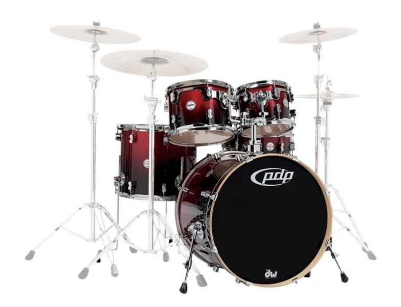 DW PDP Concept Maple Shell Red Black Sparkle