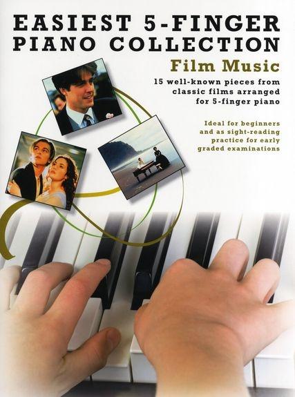 Colectie de 15 partituri de pian Easiest 5-Finger Piano Collection: Film Music