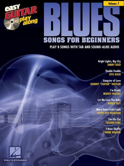 No brand EASY GUITAR PLAY ALONG VOLUME 7 BLUES SONGS FOR BEGINNERS GTR BK/CD