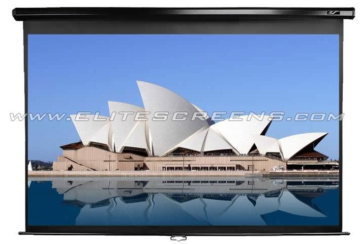Ecran de proiectie de perete/tavan cu proiectie frontala retractabil cu actionare manuala Elitescreens M120UWH2