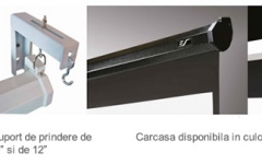 Ecran proiectie manual si montare pentru perete/tavan Elitescreens M135UWH2