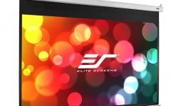 Ecran de proiectie de perete/tavan retractabil cu actionare manuala Elitescreens SRM-PRO M84HSR-PRO