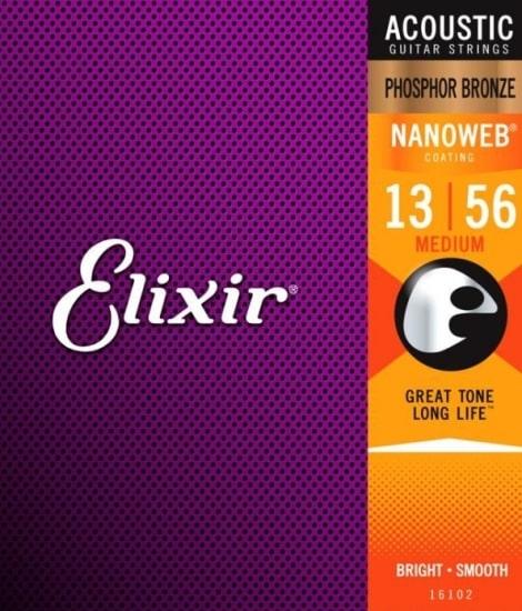 Elixir Nanoweb Acoustic Ph Bronze Medium
