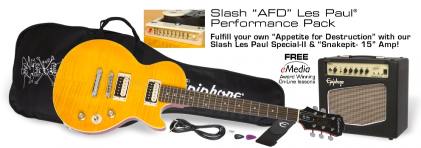 Epiphone Epiphone Slash AFD Les Paul Performance Pack