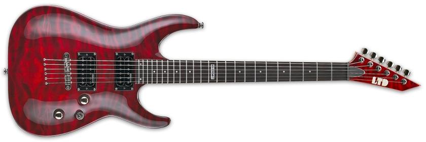 Chitara electrica cu 6 corzi ESP LTD MH-100 QM NT STBC