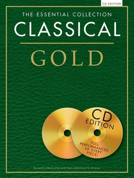 No brand ESSENTIAL COLLECTION CLASSICAL GOLD PIANO SOLO BOOK/2CD