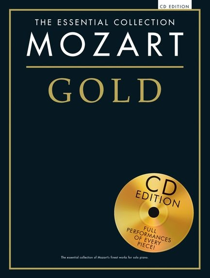 No brand ESSENTIAL COLLECTION MOZART GOLD PIANO BK/CD