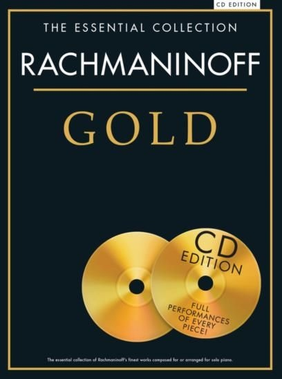 No brand ESSENTIAL COLLECTION RACHMANINOFF GOLD PIANO SOLO BOOK/2CD