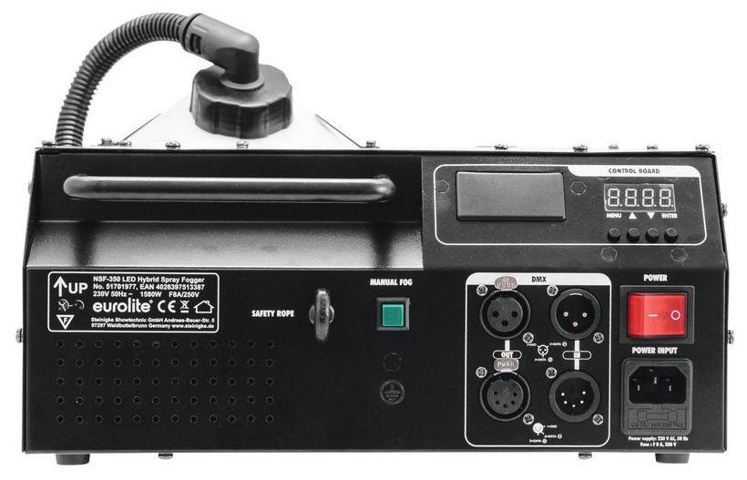 Masina de ceata cu efect de lumini LED incorporat Eurolite NSF-350 LED Hybrid Spray Fogger