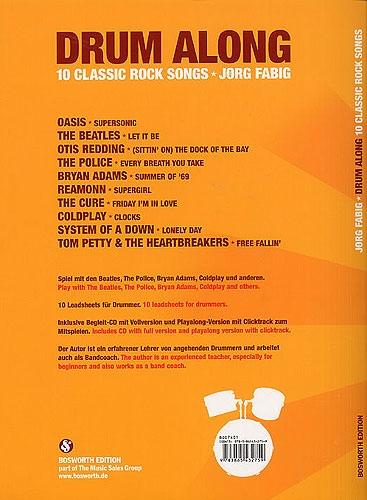 No brand FABIG JORG DRUM ALONG 10 CLASSIC ROCK SONGS DRUMS BOOK/CD