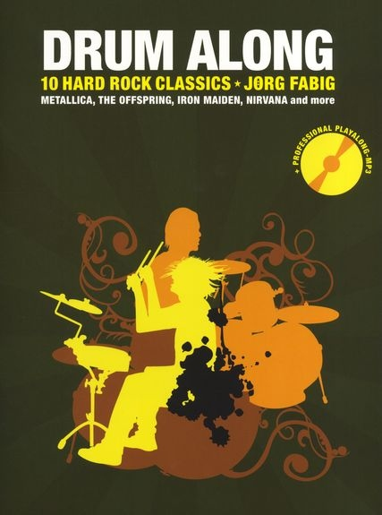 No brand FABIG JORG DRUM ALONG VOL 5 10 HARD ROCK CLASSICS DRUMS BOOK/CD