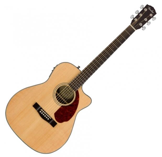 Chitara electro-acustica concert cu cutaway Fender Fender CC-140 SCE Nat w/ Case