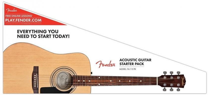 Set complet chitara pentru incepatori Fender FA-115 Acoustic Pack